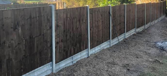 Domestic fencing project finished by Outback Landscapes experts.