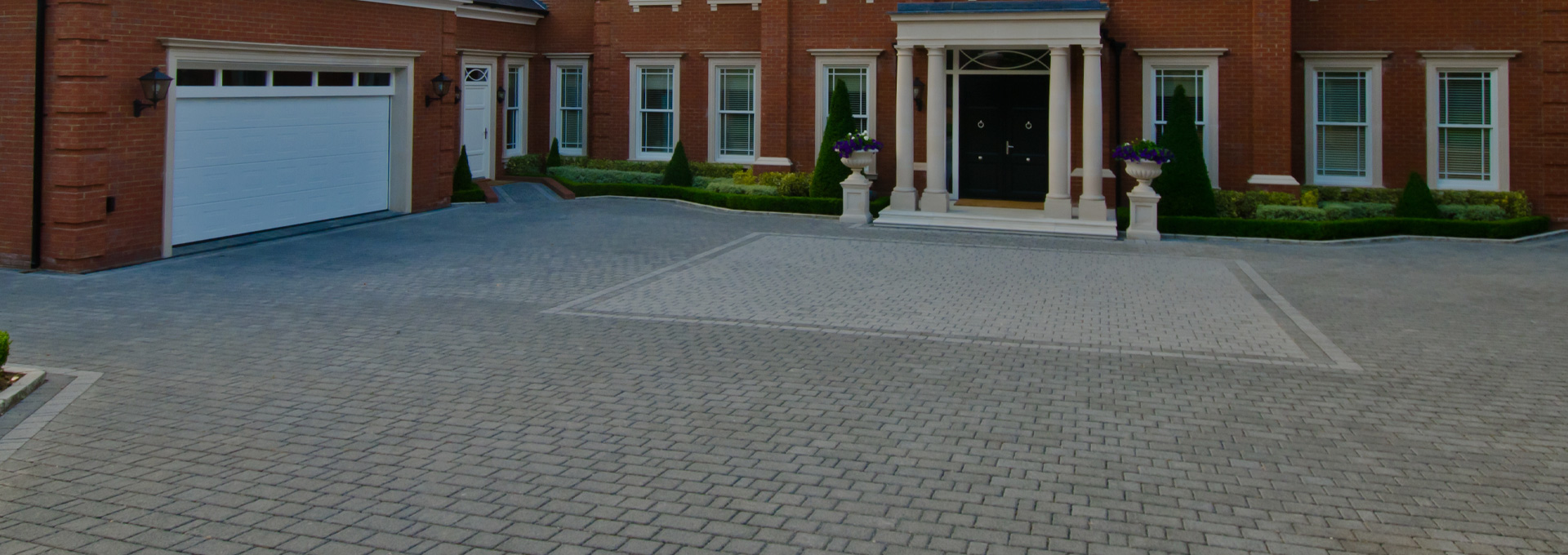 Large driveway area fitted by Outback Landscapes specialists.