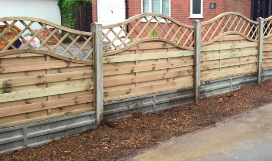 Small domestic project that included installing wooden fencing around the property.