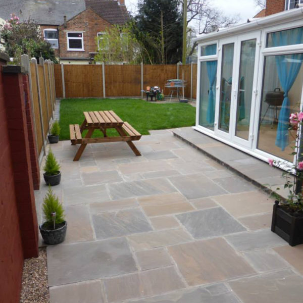 Small domestic project which included patio laying in the back garden area.