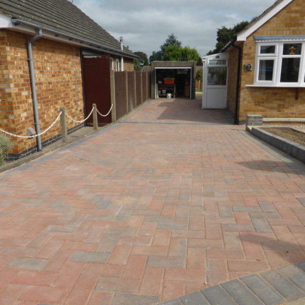 Driveway fitted by Outback Landscapes, next to the bungalow.