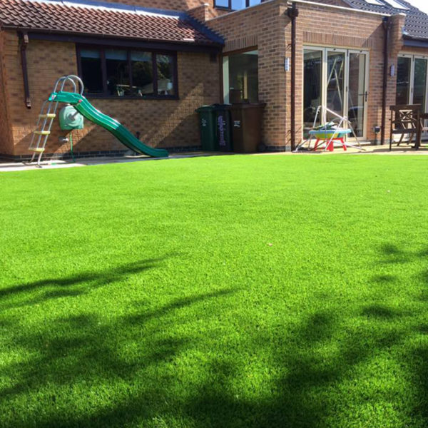 Landscaping project which included laying new grass in the back garden.
