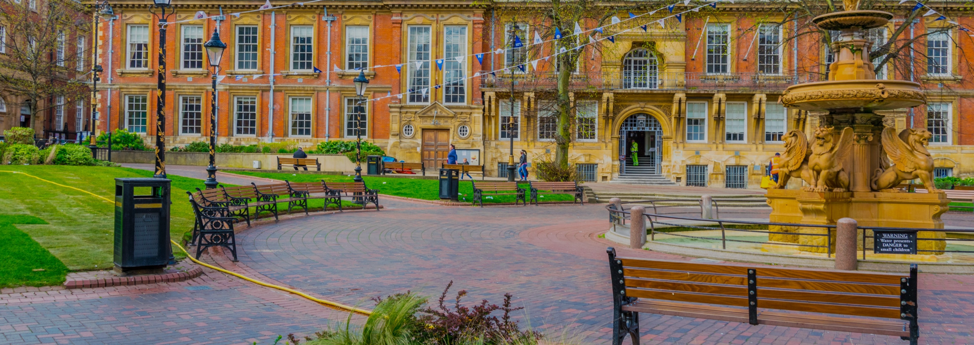 Landscaping project in the centre of Leicester.