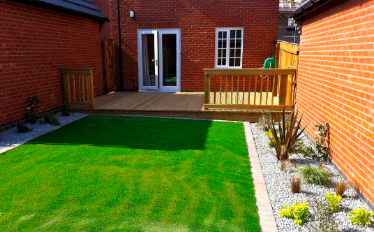 Small Domestic Project that included outdoor area decking & planting scheme.